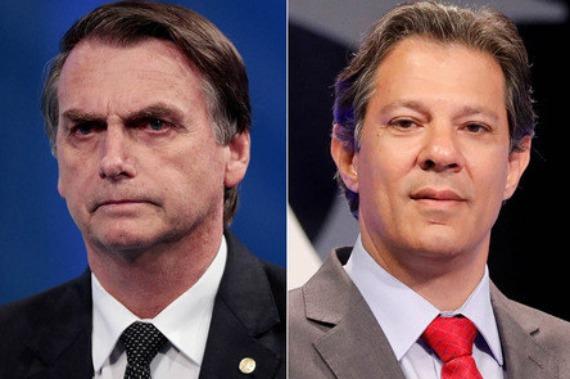 Bolsonaro, 57%; Haddad, 43%, diz nova pesquisa Ibope