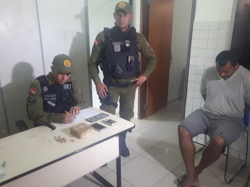 Parauapebas: Policiais Militares prendem traficante com quase 1 quilo de crack