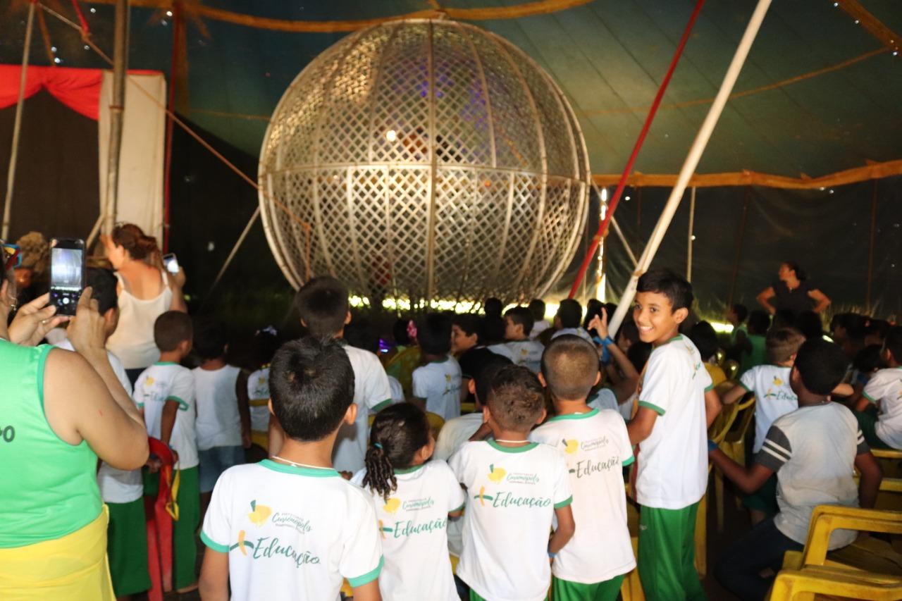 Em Curionópolis, alunos da rede pública de ensino são levados ao circo
