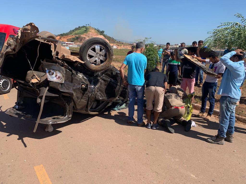 Grave acidente em Parauapebas deixa perna de motorista irreconhecível