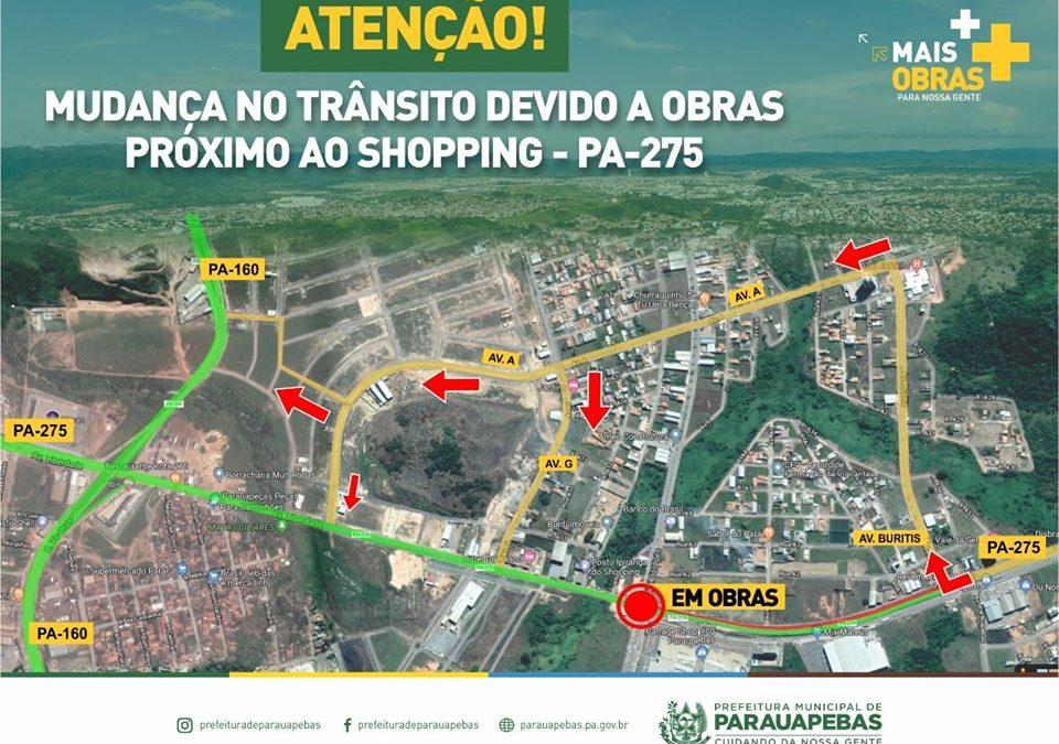 Fique atento! Mudanças no trânsito às proximidades do shopping de Parauapebas
