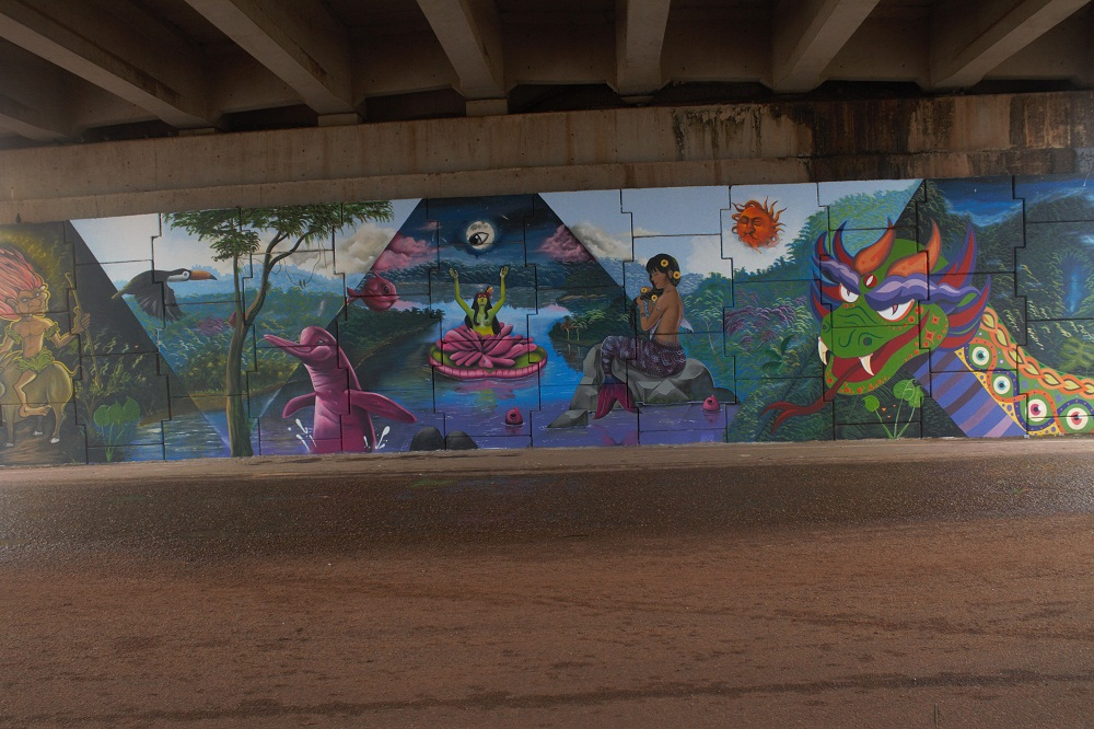 Viaduto em Marabá é embelezado por obras de artistas locais