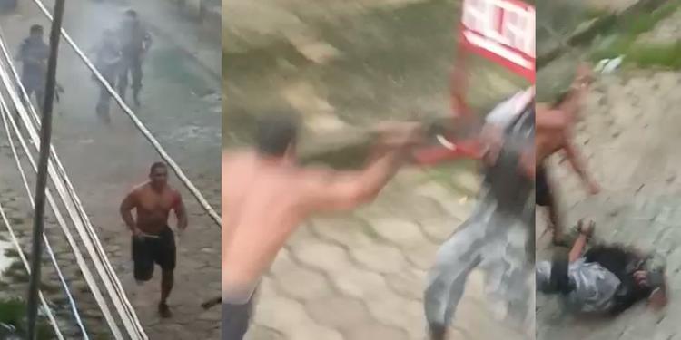 Homem em aparente surto ataca policiais da ROTAM com barra de ferro e é morto em Icoaraci