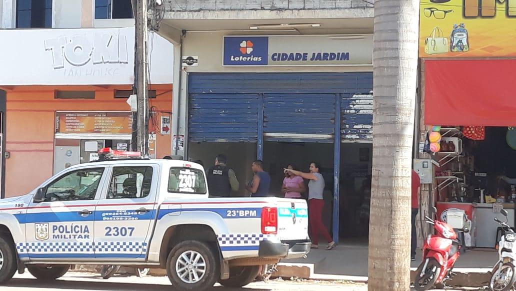 Bandidos assaltam clientes e funcionários de lotérica no bairro Cidade Jardim