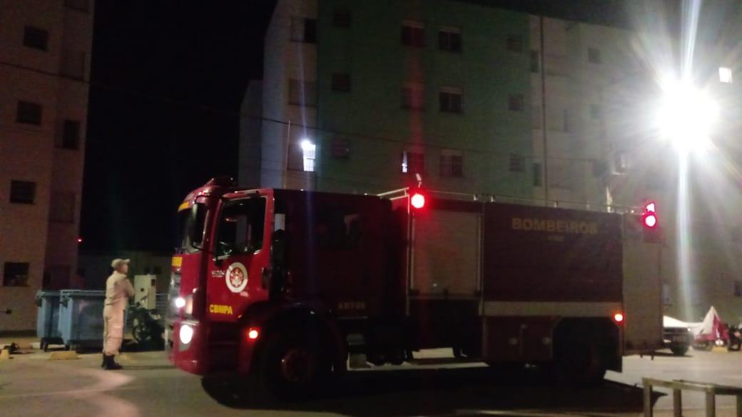 Pequeno incêndio em apartamento no Residencial Alto Bonito