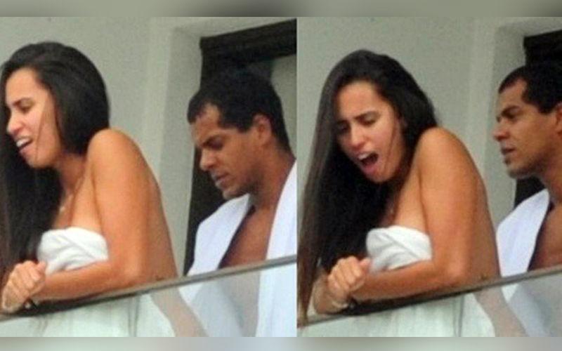 Ator Marcello Melo Jr. faz morena 'revirar os olhos' em sacada de hotel; veja as fotos!